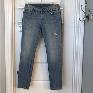 Loft curvy skinny jeans.